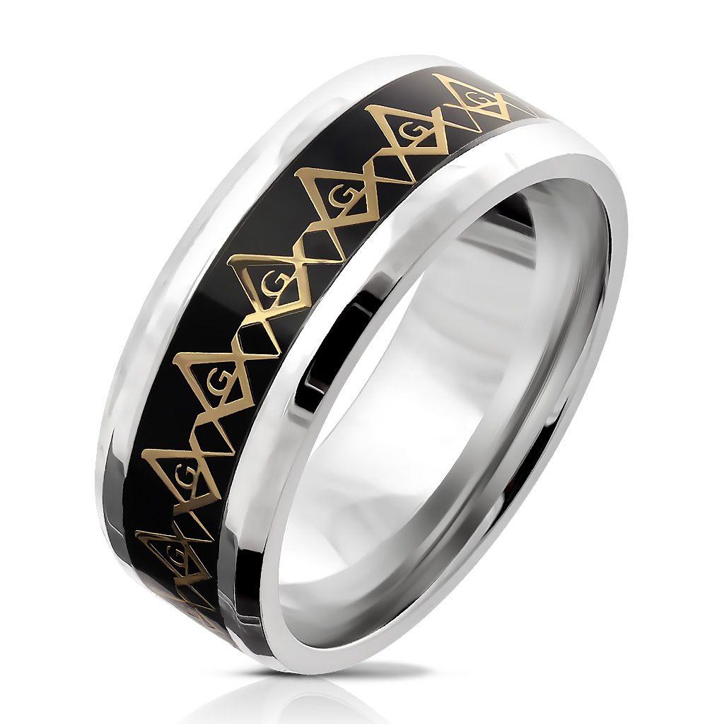 Кольцо с масонскими знаками