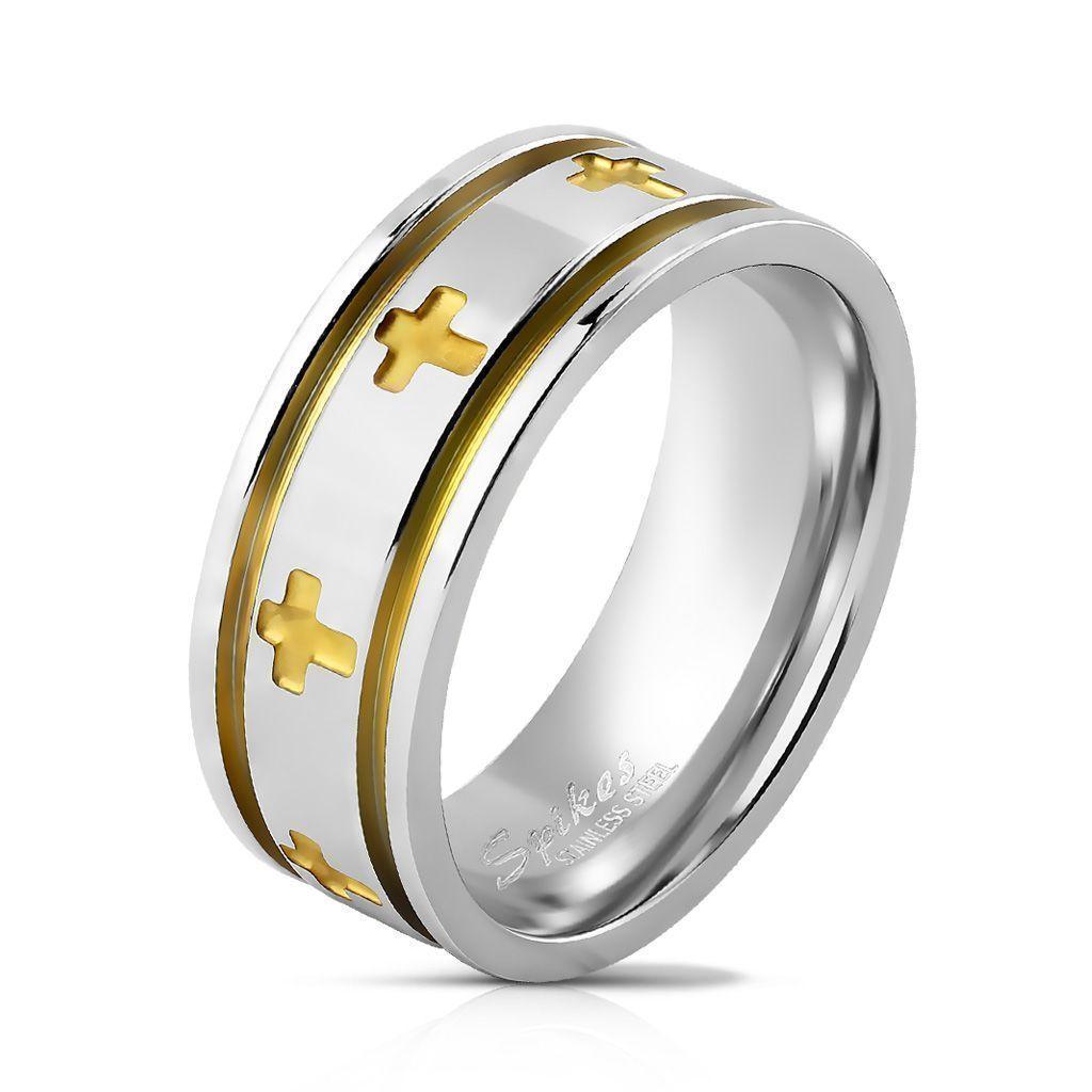 Кольцо с золотыми крестами