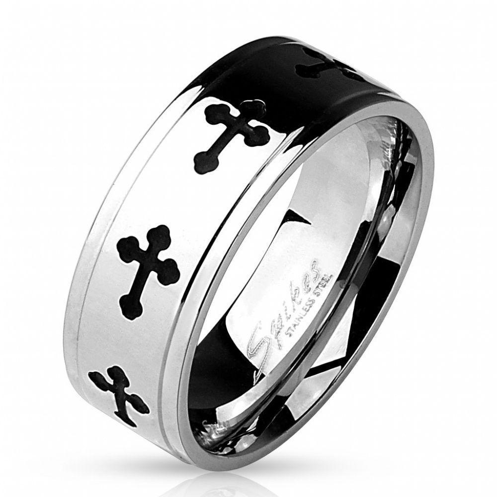 Кольцо с черными кельтскими крестами